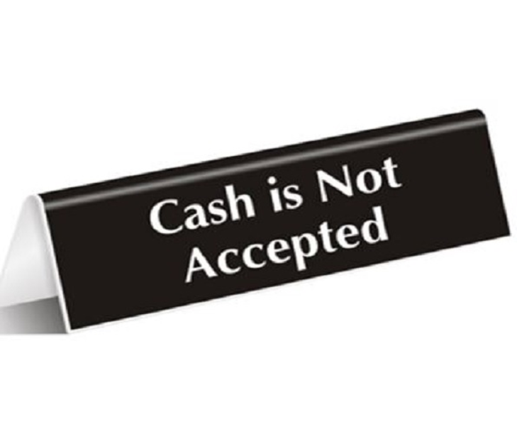 Cash not accepted 350x300