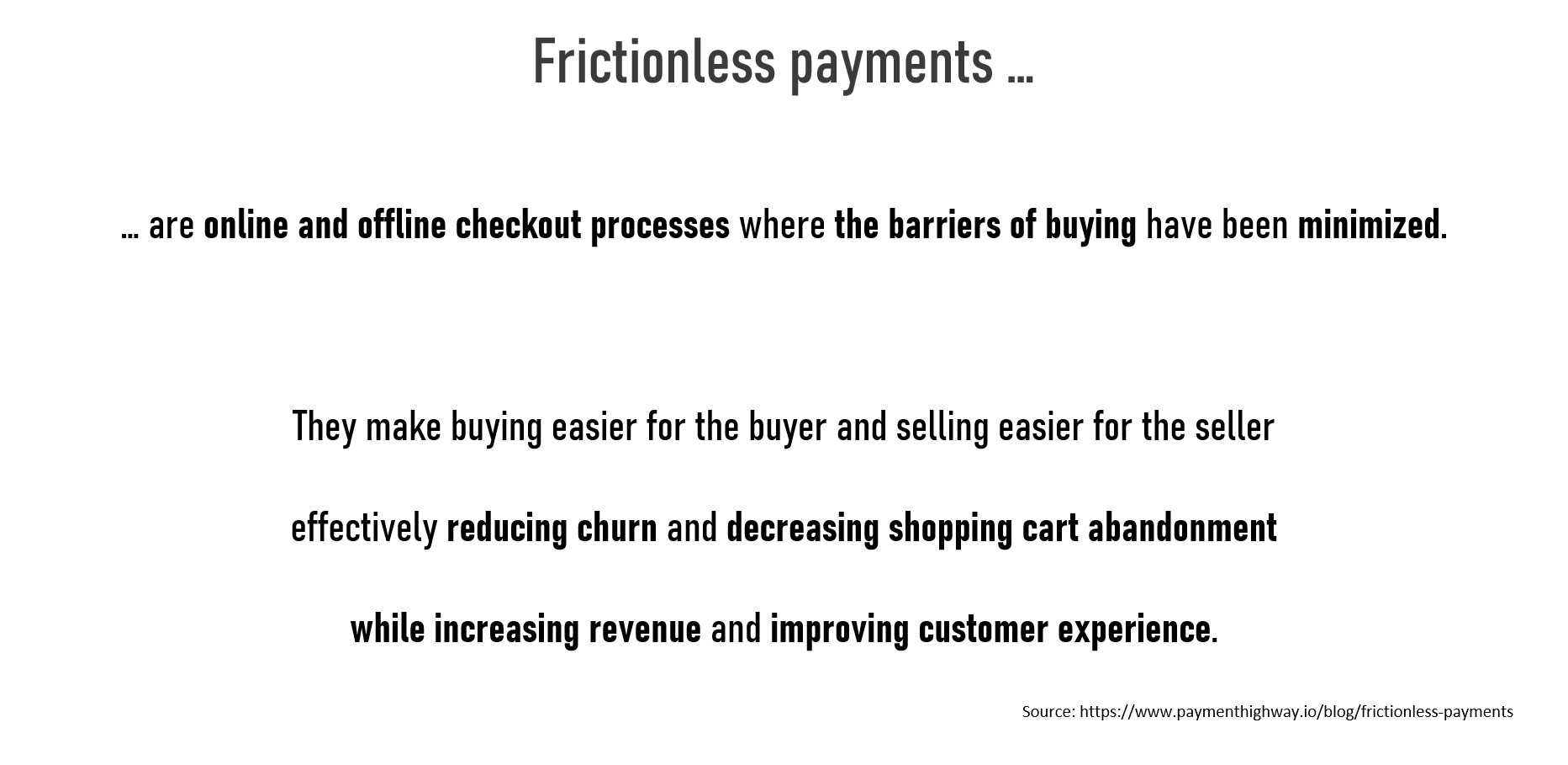 Frictionless payments definition